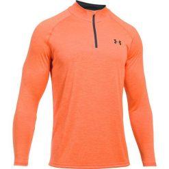 Bluzy męskie: Under Armour Bluza męska Tech 1/4 Zip pomarańczowo-czarna r. L (1242220-889)