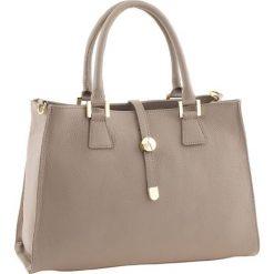 Torebki klasyczne damskie: Skórzana torebka w kolorze szarobrązowym – 35 x 25 x 11 cm