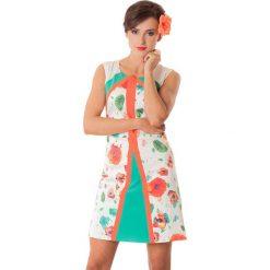 Sukienki hiszpanki: Sukienka w kolorze pomarańczowo-ecru
