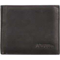 CZARNY PORTFEL MĘSKI ZE SKÓRY ABRUZZO. Czarne portfele męskie Abruzzo, ze skóry. Za 49,00 zł.