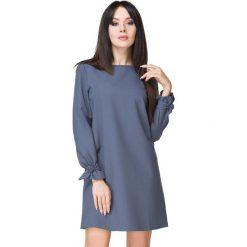 Niebieska Sukienka Wizytowa z Wiązaniami. Szare sukienki balowe marki Sinsay, l, z dekoltem na plecach. Za 159,00 zł.