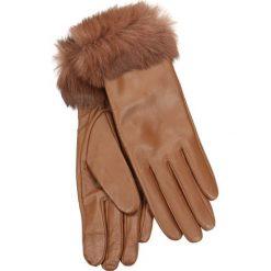 Rękawiczki damskie. Brązowe rękawiczki damskie marki Gino Rossi, ze skóry. Za 139,90 zł.