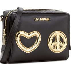 Torebka LOVE MOSCHINO - JC4274PP04KI100A  Oro. Czarne listonoszki damskie marki Love Moschino. W wyprzedaży za 529,00 zł.