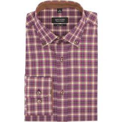 Koszula bexley 2178 długi rękaw slim fit fiolet. Szare koszule męskie slim marki Recman, na lato, l, w kratkę, button down, z krótkim rękawem. Za 49,99 zł.
