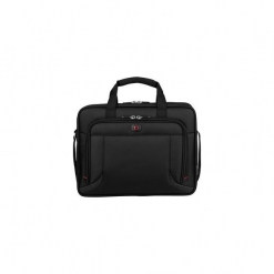 "Torba na laptopa Wenger Prospectus 16"", czarna 600649. Czarne torby na laptopa marki Wenger, w paski, z neoprenu. Za 200,10 zł."