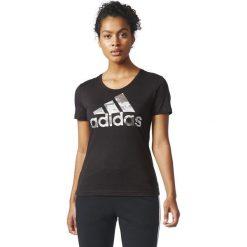 Adidas Koszulka damska BOS FOIL czarna r. L (CD1952). Szare topy sportowe damskie marki Adidas, l, z dresówki, na jogę i pilates. Za 80,86 zł.