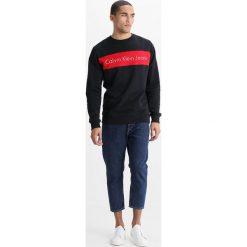 Calvin Klein Jeans HAYO REGULAR FIT Bluza black. Czarne kardigany męskie marki Calvin Klein Jeans, m, z bawełny. W wyprzedaży za 359,20 zł.