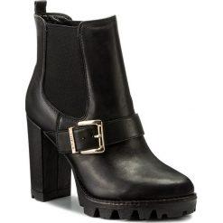 Botki LIU JO - Beatle Tc 105 Cher S67173 P0158 Nero 22222. Czarne buty zimowe damskie Liu Jo, ze skóry, na obcasie. W wyprzedaży za 549,00 zł.