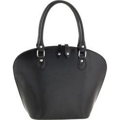 Torebki klasyczne damskie: Skórzana torebka w kolorze czarnym – 38 x 28 x 14 cm