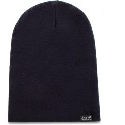 Czapka JACK WOLFSKIN - Rib Hat 1903891 Night Blue. Czarne czapki męskie marki Jack Wolfskin, w paski, z materiału. Za 64,99 zł.