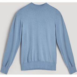 Swetry klasyczne damskie: Sweter z domieszką kaszmiru - Niebieski