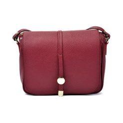 Torebki klasyczne damskie: Skórzana torebka w kolorze bordowym – (S)21 x (W)25 x (G)6 cm