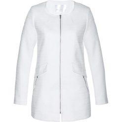 Marynarki i żakiety damskie: Długi żakiet boucle bonprix biały