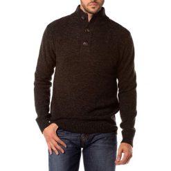 Golfy męskie: Sweter w kolorze antrayctowym