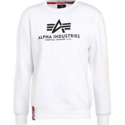Bejsbolówki męskie: Alpha Industries BASIC SWEATER Bluza weiss