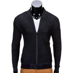 Bluzy męskie: BLUZA MĘSKA ROZPINANA BEZ KAPTURA B551 – CZARNA/MELANŻOWA