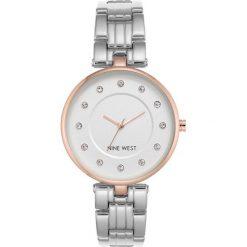 Zegarek Nine West Damski NW/2101RGSB Fashion Cyrkonie srebrny. Szare zegarki damskie Nine West, srebrne. Za 311,70 zł.