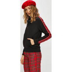 Tally Weijl - Bluza. Czerwone bluzy z kieszeniami damskie marki TALLY WEIJL, l, z dzianiny, z krótkim rękawem. Za 119,90 zł.