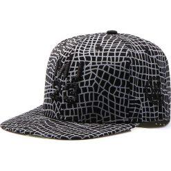 Czapka męska snapback czarna (hx0168). Czarne czapki z daszkiem męskie marki Dstreet, z haftami, eleganckie. Za 69,99 zł.
