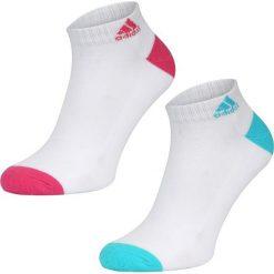Skarpetki Adidas 2pak F75815. Białe skarpetki damskie Adidas. W wyprzedaży za 14,99 zł.