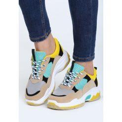 Beżowe Buty Sportowe Way To Get It. Brązowe buty sportowe damskie marki NEWFEEL, z gumy. Za 99,99 zł.
