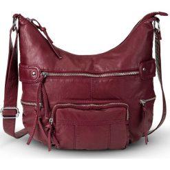 """Torebka na ramię """"Casual"""" bonprix czerwony kasztanowy. Czerwone torebki klasyczne damskie bonprix, ze skóry. Za 109,99 zł."""