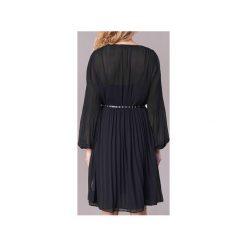 Sukienki krótkie Pepe jeans  WINONA. Sukienki małe czarne marki Pepe Jeans, l, z jeansu, z krótkim rękawem. Za 383,20 zł.