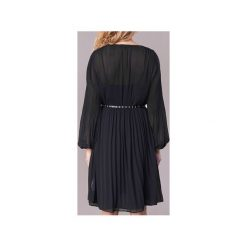 Sukienki krótkie Pepe jeans  WINONA. Czarne sukienki hiszpanki Pepe Jeans, l, z jeansu, z krótkim rękawem, mini. Za 391,20 zł.
