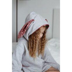 Bluza Królik z uszami jansy szary. Szare bluzy dziewczęce rozpinane Pakamera, z bawełny. Za 119,00 zł.