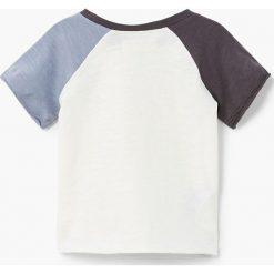 Mango Kids - T-shirt dziecięcy Paul 80-104 cm. Szare t-shirty chłopięce z nadrukiem Mango Kids, z bawełny, z okrągłym kołnierzem. W wyprzedaży za 12,90 zł.