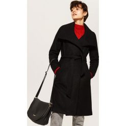 Płaszcz z wełną - Czarny. Czarne płaszcze damskie wełniane marki House, l. Za 259,99 zł.