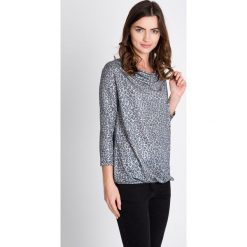 Bluzki damskie: Szara bluzka w panterkę QUIOSQUE