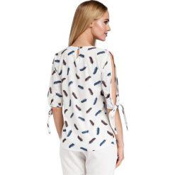 TEMPEST Bluzka z rozciętymi rękawami - model 2. Szare bluzki z odkrytymi ramionami Moe, z nadrukiem. Za 136,99 zł.