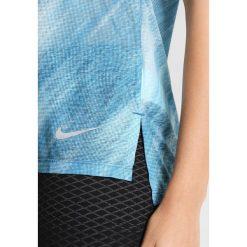 Nike Performance BREATHE COOL PRINTED Tshirt z nadrukiem light blue. Niebieskie t-shirty damskie Nike Performance, m, z nadrukiem, z materiału. W wyprzedaży za 132,30 zł.