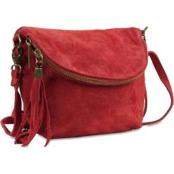 """Torebki klasyczne damskie: Skórzana torebka """"Juliette"""" w kolorze czerwonym – 22 x 18 x 3,5 cm"""