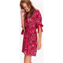SUKIENKA DAMSKA MINI Z WIĄZANIAMI NA RĘKAWACH. Różowe sukienki hiszpanki Top Secret, na jesień, mini. Za 39,99 zł.