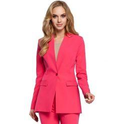 AUDRA Żakiet na jeden guzik - różowy. Czerwone marynarki i żakiety damskie Moe, z jeansu. Za 139,00 zł.