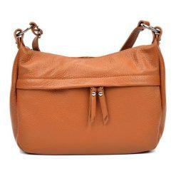 Torebki klasyczne damskie: Skórzana torebka w kolorze jasnobrązowym – (S)22 x (W)36 x (G)12 cm