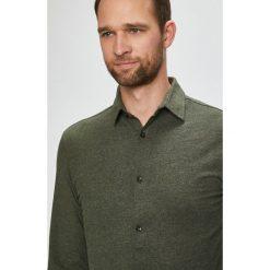 Jack & Jones - Koszula. Szare koszule męskie na spinki Jack & Jones, l, z bawełny, z klasycznym kołnierzykiem, z długim rękawem. W wyprzedaży za 99,90 zł.