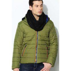 Zielona Kurtka Polar Face. Czarne kurtki męskie zimowe marki Born2be, l, z aplikacjami, z dresówki. Za 109,99 zł.