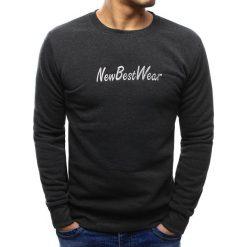 Bluzy męskie: Bluza męska z napisem antracytowa (bx3438)