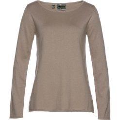Sweter bonprix brunatny. Brązowe swetry klasyczne damskie bonprix, z dekoltem w łódkę. Za 79,99 zł.