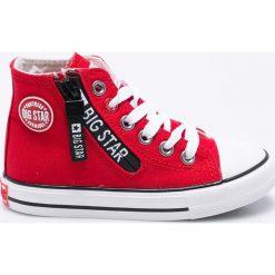 Big Star - Trampki dziecięce. Szare buty sportowe chłopięce marki BIG STAR, z materiału, na sznurówki. W wyprzedaży za 79,90 zł.