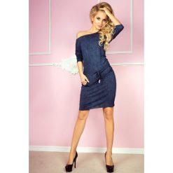 Cher Sukienka sportowa - Wiskoza - jeans granatowa. Niebieskie sukienki na komunię marki numoco, na imprezę, s, w kwiaty, z jeansu, sportowe, sportowe. Za 109,00 zł.