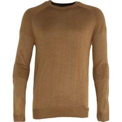 Brązowy Sweter Sure To Fall. Brązowe swetry klasyczne męskie Born2be, l, z okrągłym kołnierzem. Za 64,99 zł.