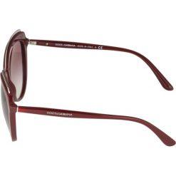 Dolce&Gabbana Okulary przeciwsłoneczne bordeaux. Czerwone okulary przeciwsłoneczne damskie lenonki Dolce&Gabbana. Za 919,00 zł.