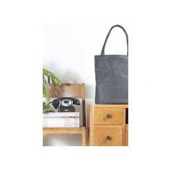 Shopper bag XL grafitowa klasyczna torba na zamek Vegan. Szare shopper bag damskie Hairoo, w paski. Za 155,00 zł.