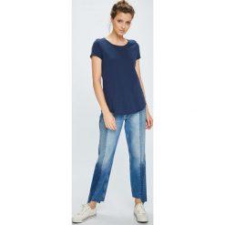 Tommy Jeans - Top. Szare topy damskie marki Tommy Jeans, l, z dzianiny, z podwyższonym stanem, dopasowane. Za 119,90 zł.