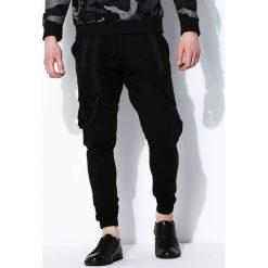 Spodnie męskie: Czarne Spodnie Dumb Luck