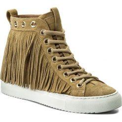 Sneakersy TWINSET - Sneaker CS8TAL Dune Chiaro 02313. Brązowe sneakersy damskie Twinset, ze skóry. W wyprzedaży za 539,00 zł.